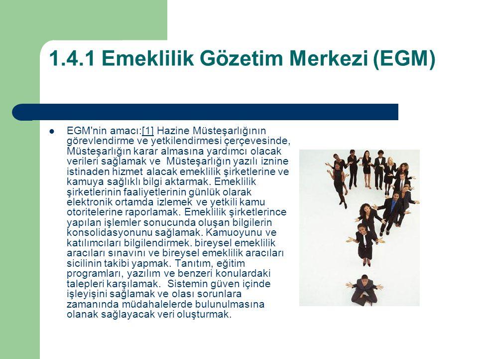 1.4.1 Emeklilik Gözetim Merkezi (EGM)