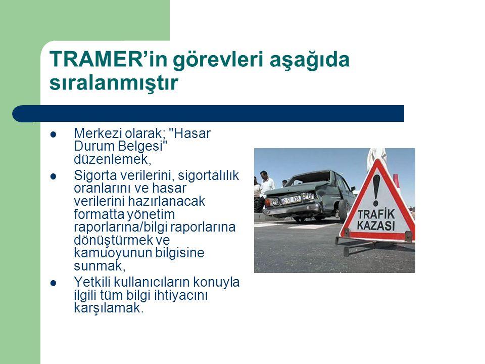 TRAMER'in görevleri aşağıda sıralanmıştır