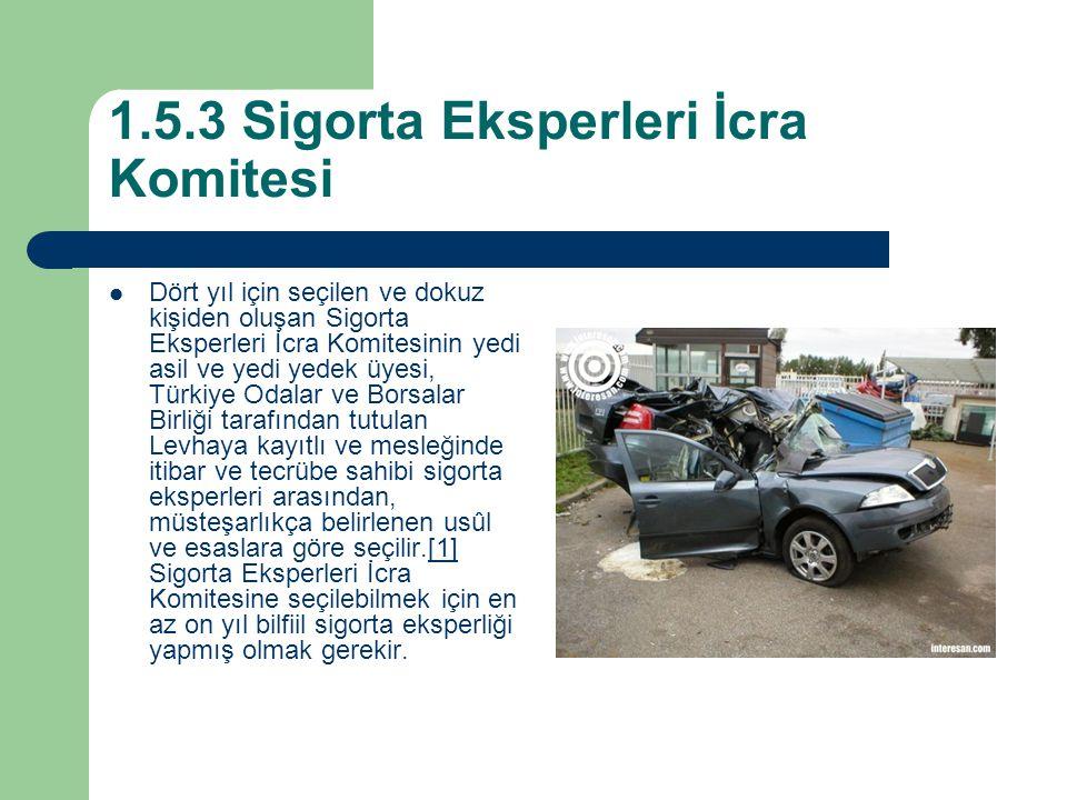 1.5.3 Sigorta Eksperleri İcra Komitesi