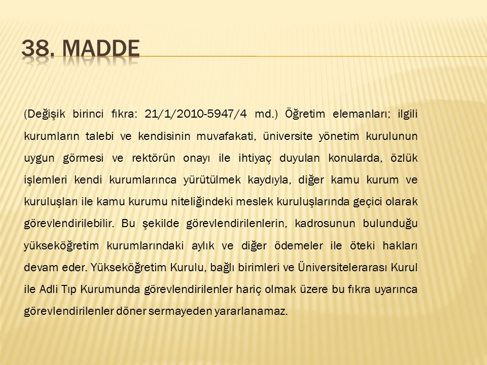 38. Madde