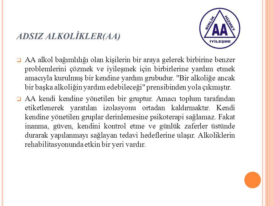 ADSIZ ALKOLİKLER(AA)
