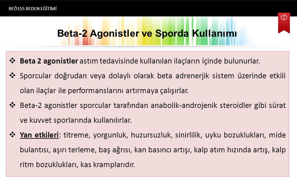 Beta-2 Agonistler ve Sporda Kullanımı