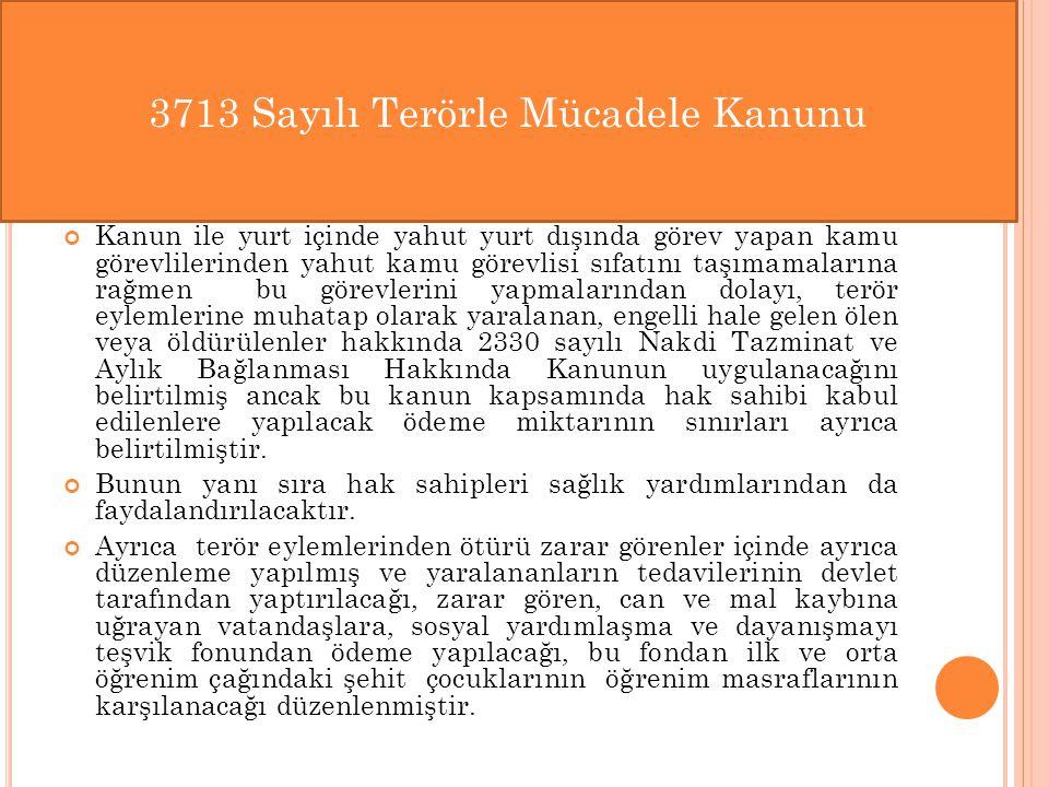 3713 Sayılı Terörle Mücadele Kanunu