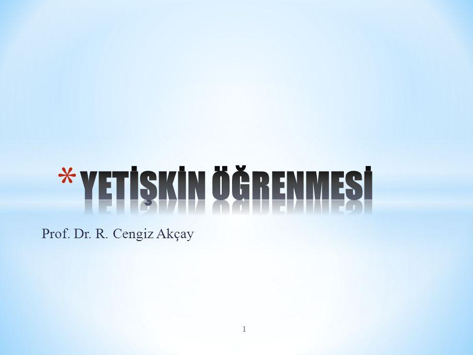 YETİŞKİN ÖĞRENMESİ Prof. Dr. R. Cengiz Akçay