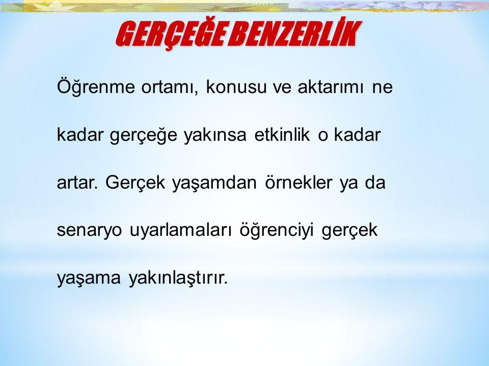 GERÇEĞE BENZERLİK