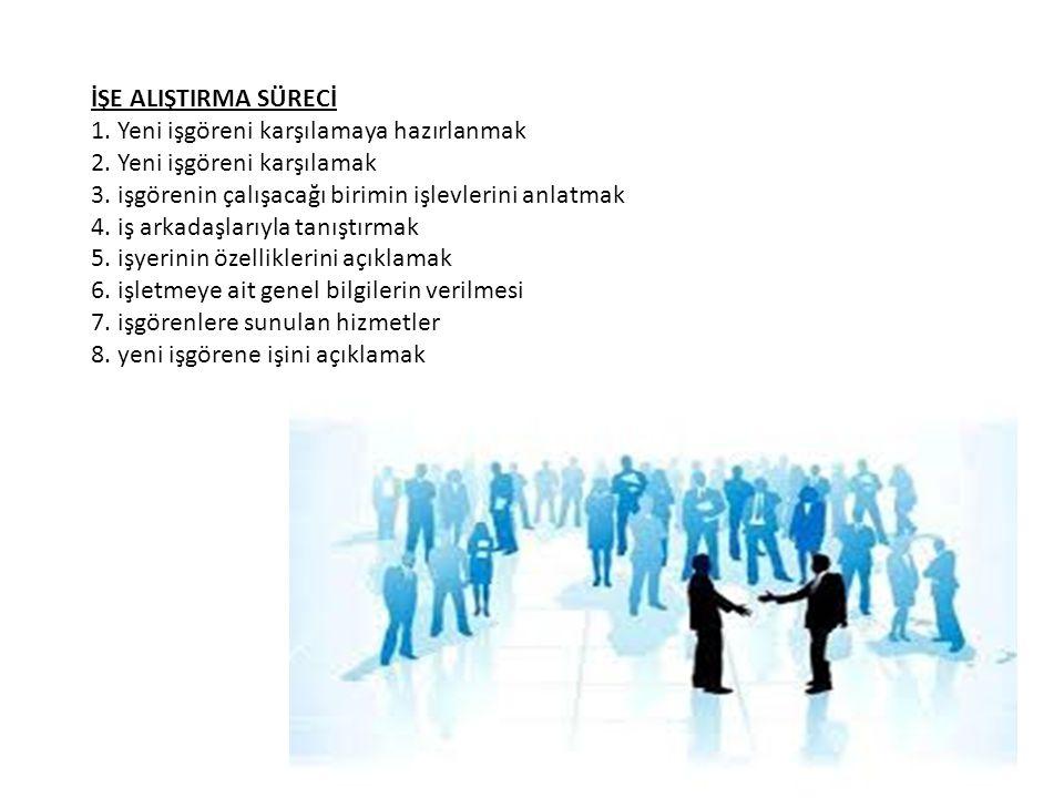 İŞE ALIŞTIRMA SÜRECİ 1. Yeni işgöreni karşılamaya hazırlanmak 2