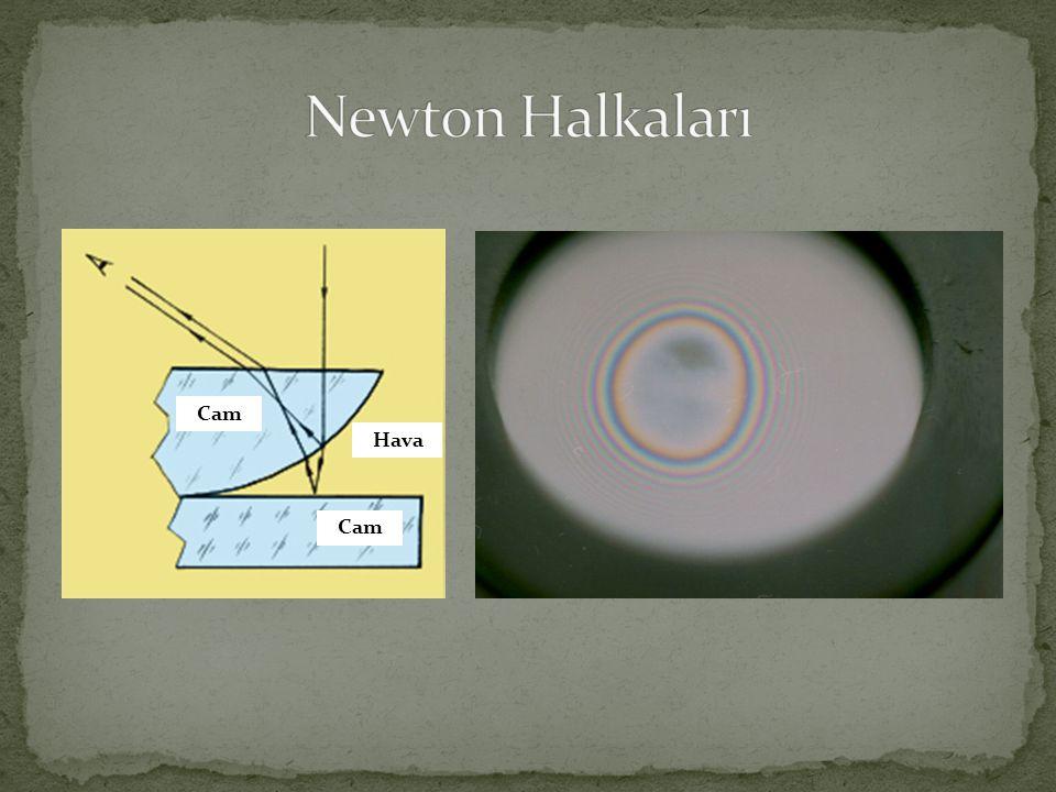 Newton Halkaları Cam Hava Cam