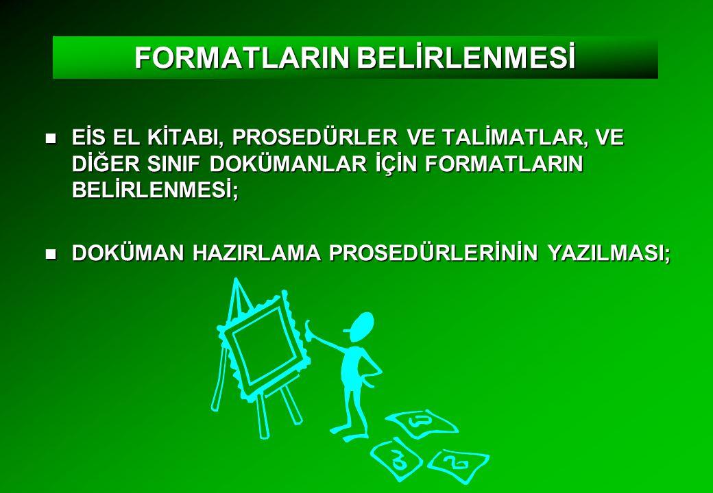 FORMATLARIN BELİRLENMESİ