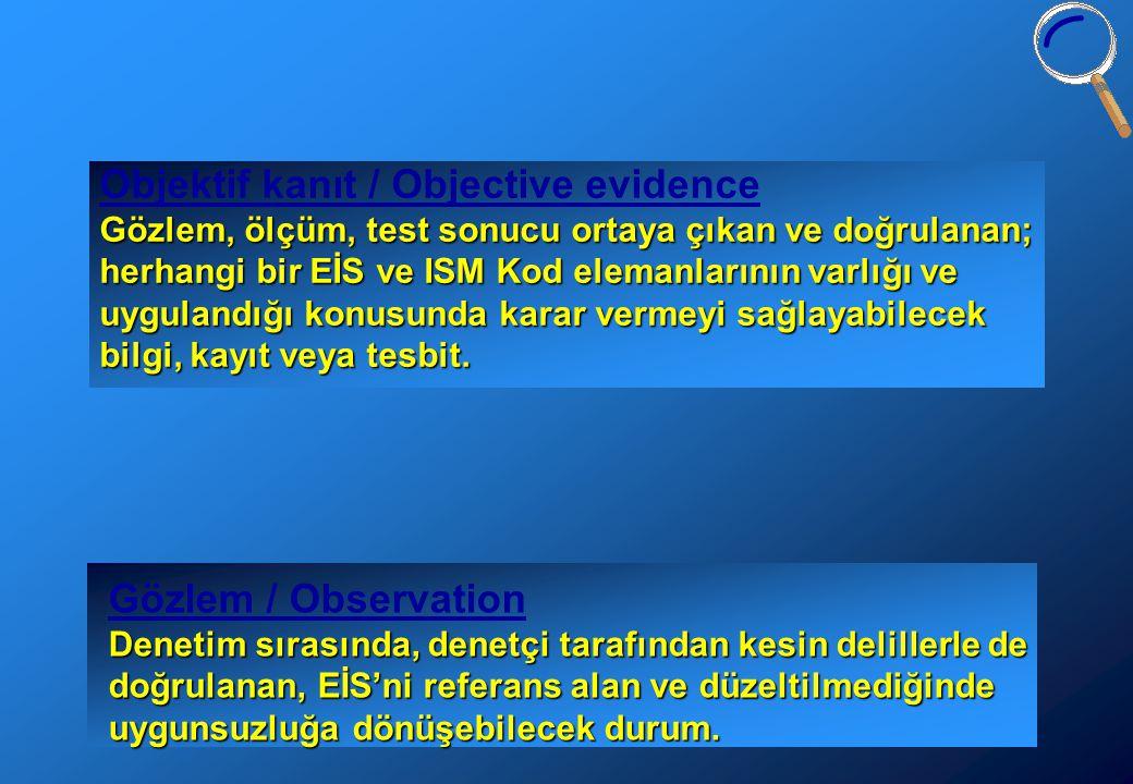 Objektif kanıt / Objective evidence