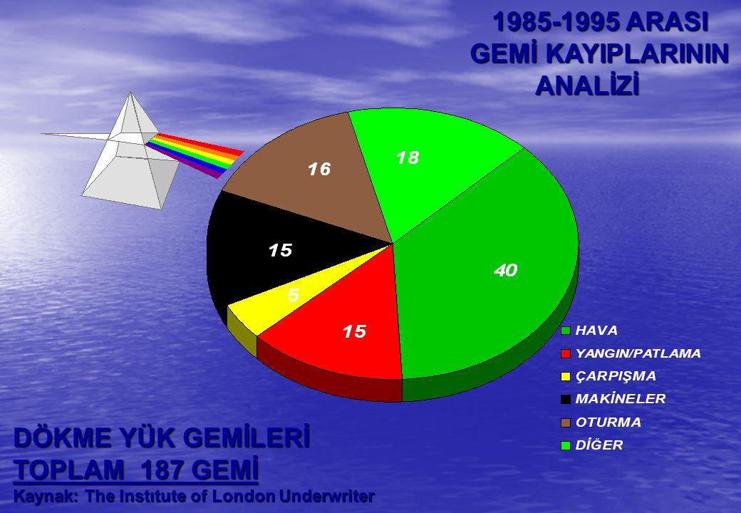 1985-1995 ARASI GEMİ KAYIPLARININ ANALİZİ DÖKME YÜK GEMİLERİ