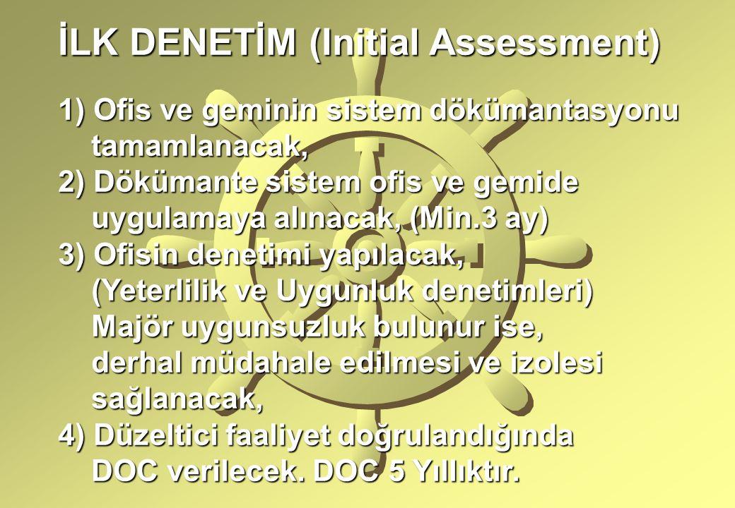 İLK DENETİM (Initial Assessment)