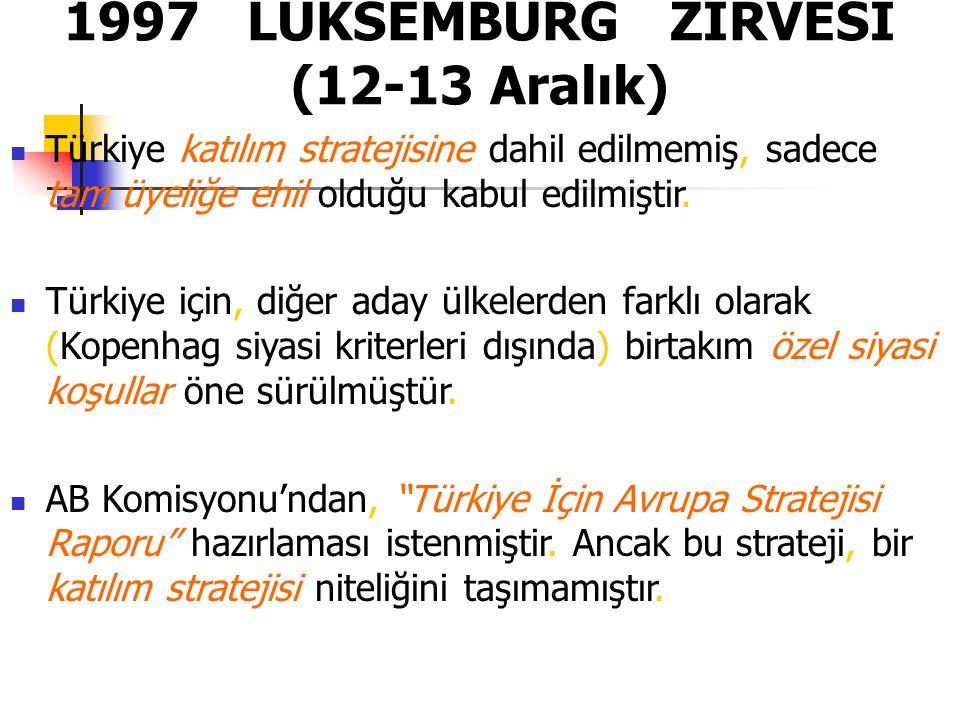 1997 LÜKSEMBURG ZİRVESİ (12-13 Aralık)