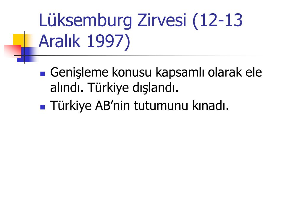 Lüksemburg Zirvesi (12-13 Aralık 1997)