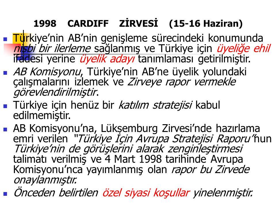 1998 CARDIFF ZİRVESİ (15-16 Haziran)