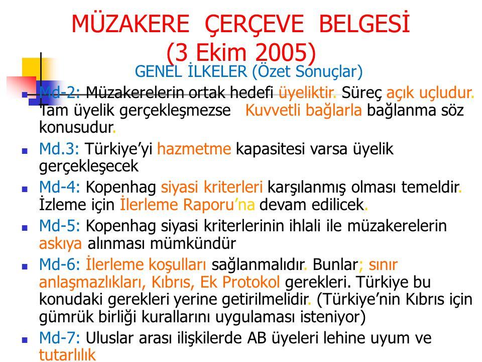 MÜZAKERE ÇERÇEVE BELGESİ (3 Ekim 2005)