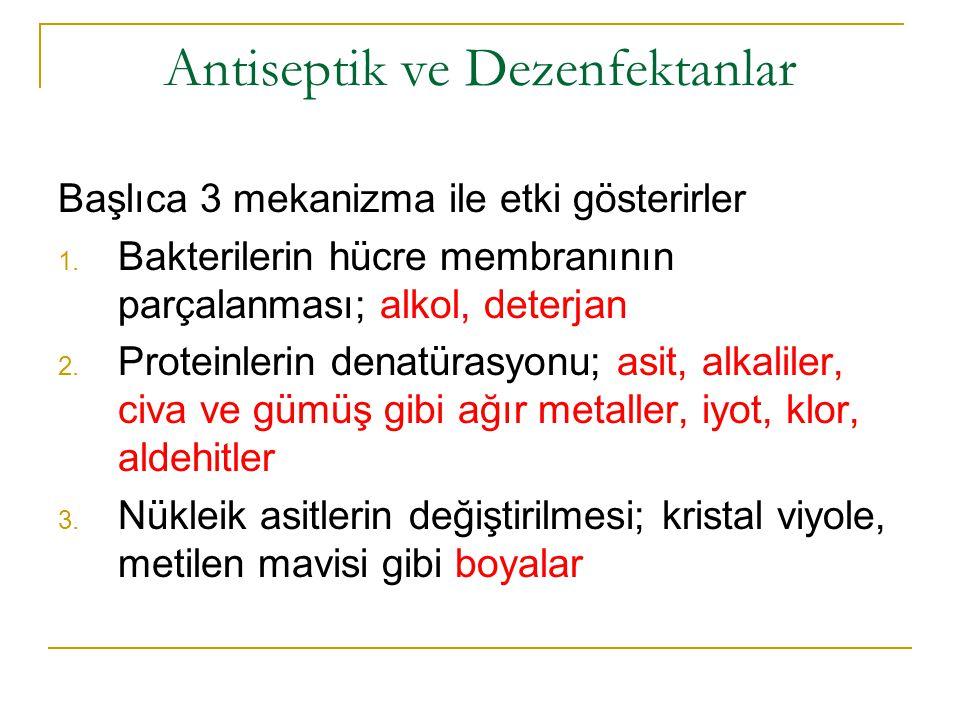 Antiseptik ve Dezenfektanlar