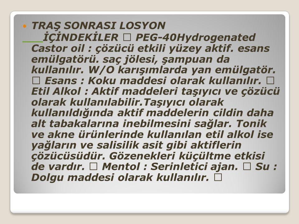 TRAŞ SONRASI LOSYON