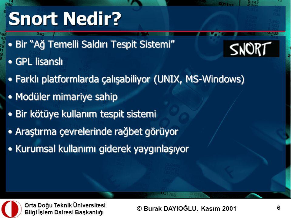 Snort Nedir Bir Ağ Temelli Saldırı Tespit Sistemi GPL lisanslı