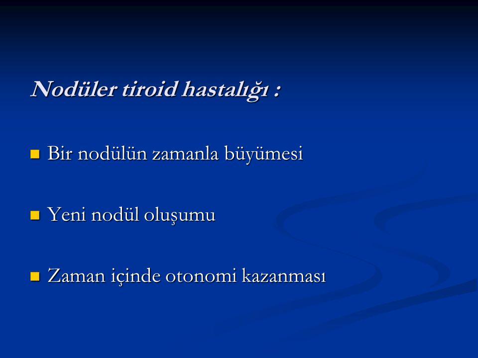 Nodüler tiroid hastalığı :