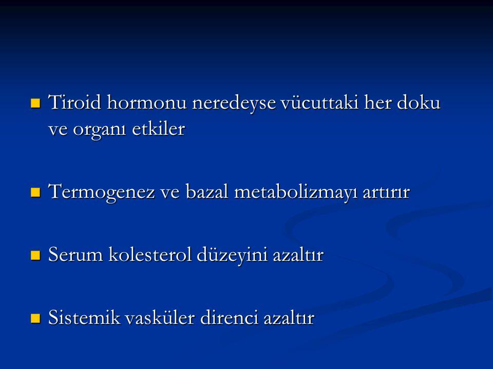 Tiroid hormonu neredeyse vücuttaki her doku ve organı etkiler