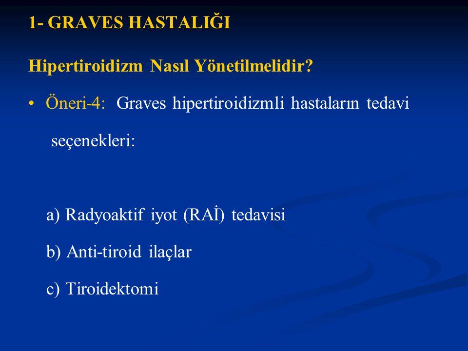 1- GRAVES HASTALIĞI Hipertiroidizm Nasıl Yönetilmelidir