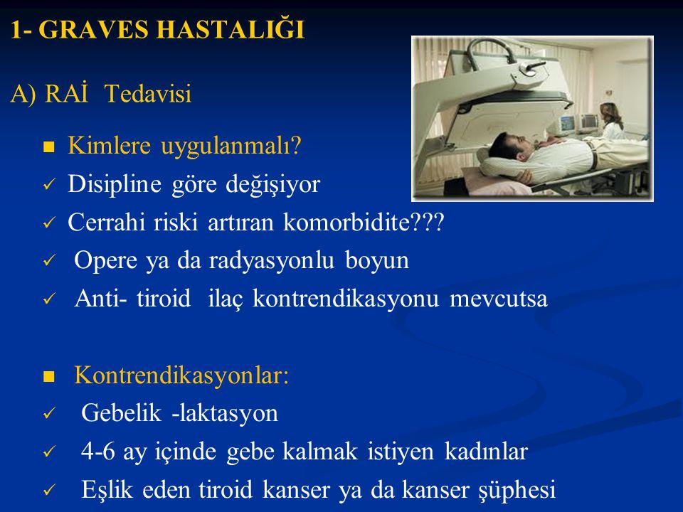 1- GRAVES HASTALIĞI A) RAİ Tedavisi