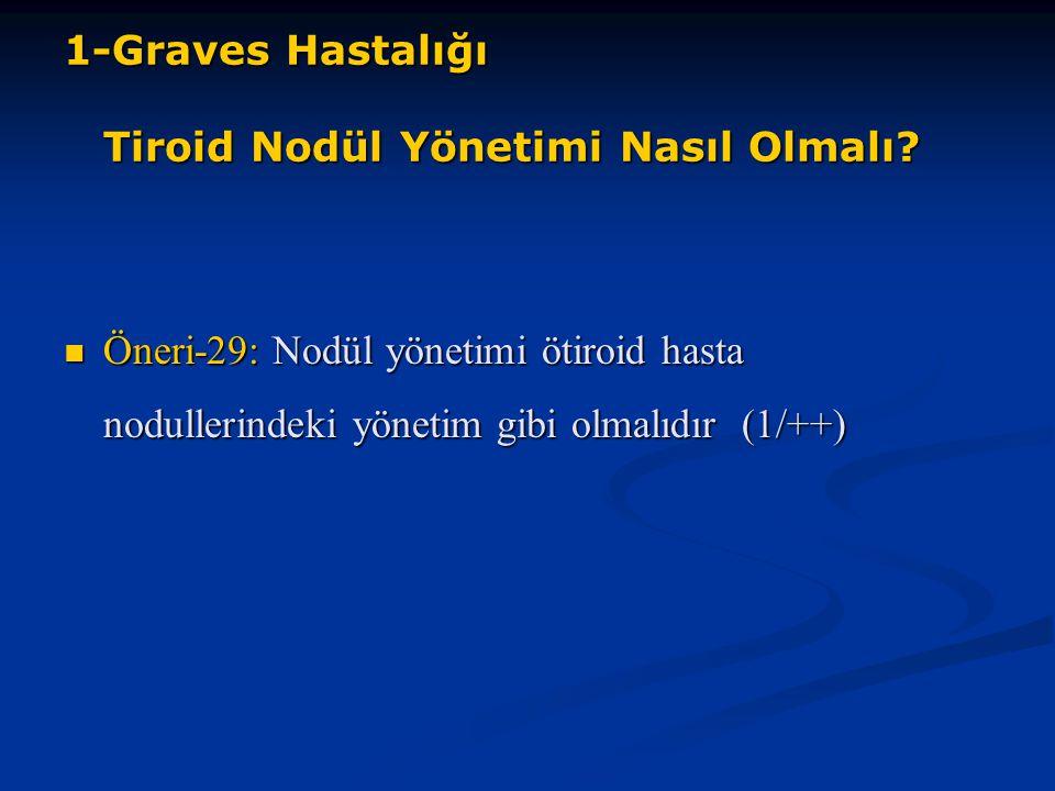 1-Graves Hastalığı Tiroid Nodül Yönetimi Nasıl Olmalı