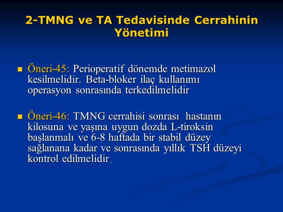2-TMNG ve TA Tedavisinde Cerrahinin Yönetimi