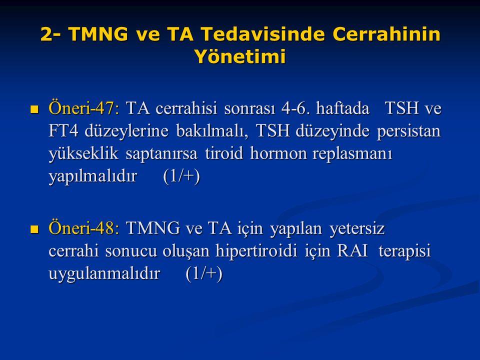 2- TMNG ve TA Tedavisinde Cerrahinin Yönetimi