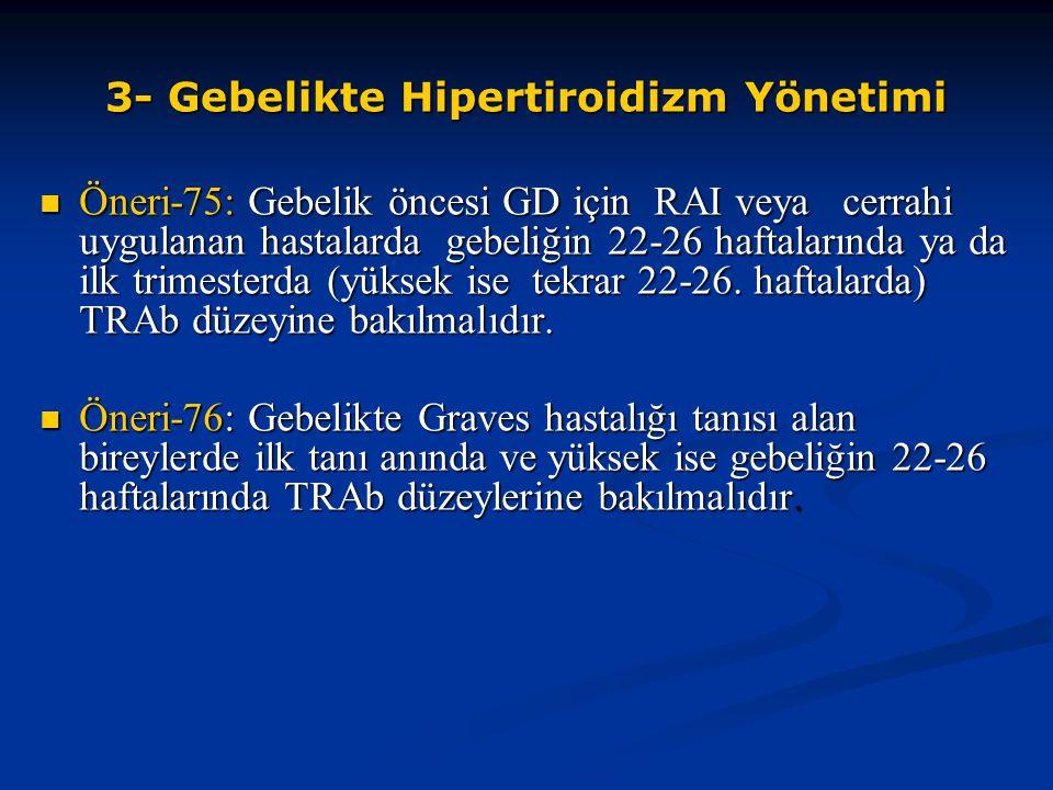 3- Gebelikte Hipertiroidizm Yönetimi