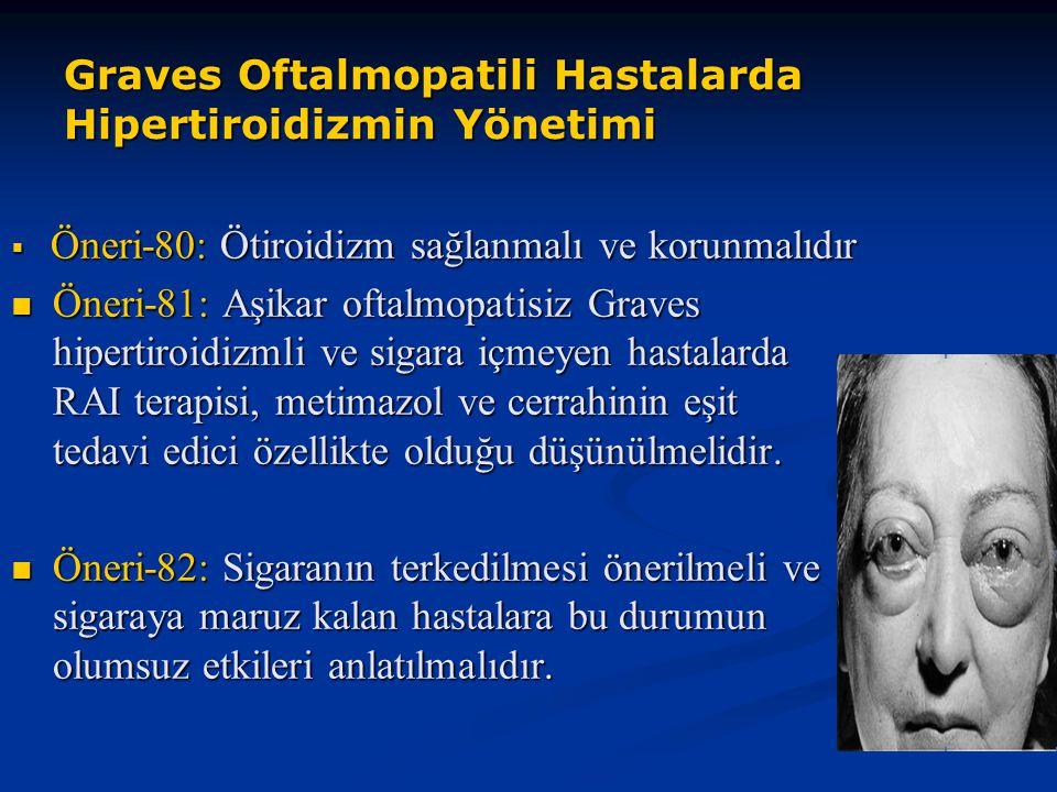 Graves Oftalmopatili Hastalarda Hipertiroidizmin Yönetimi