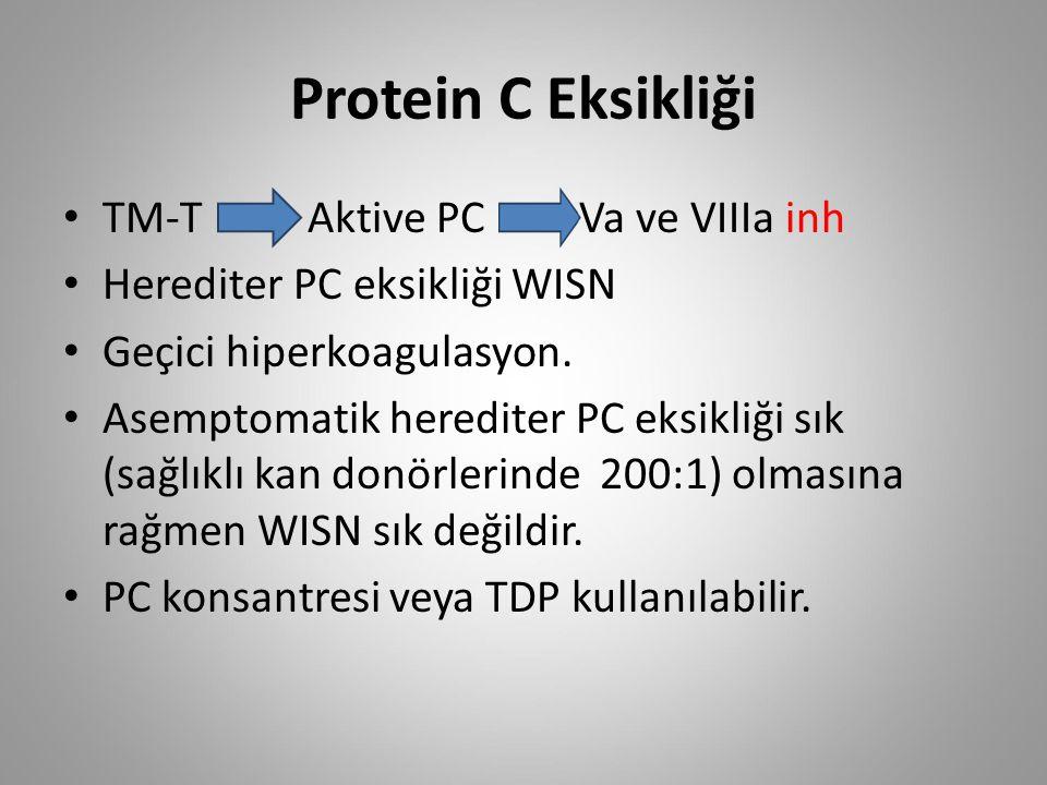 Protein C Eksikliği TM-T Aktive PC Va ve VIIIa inh