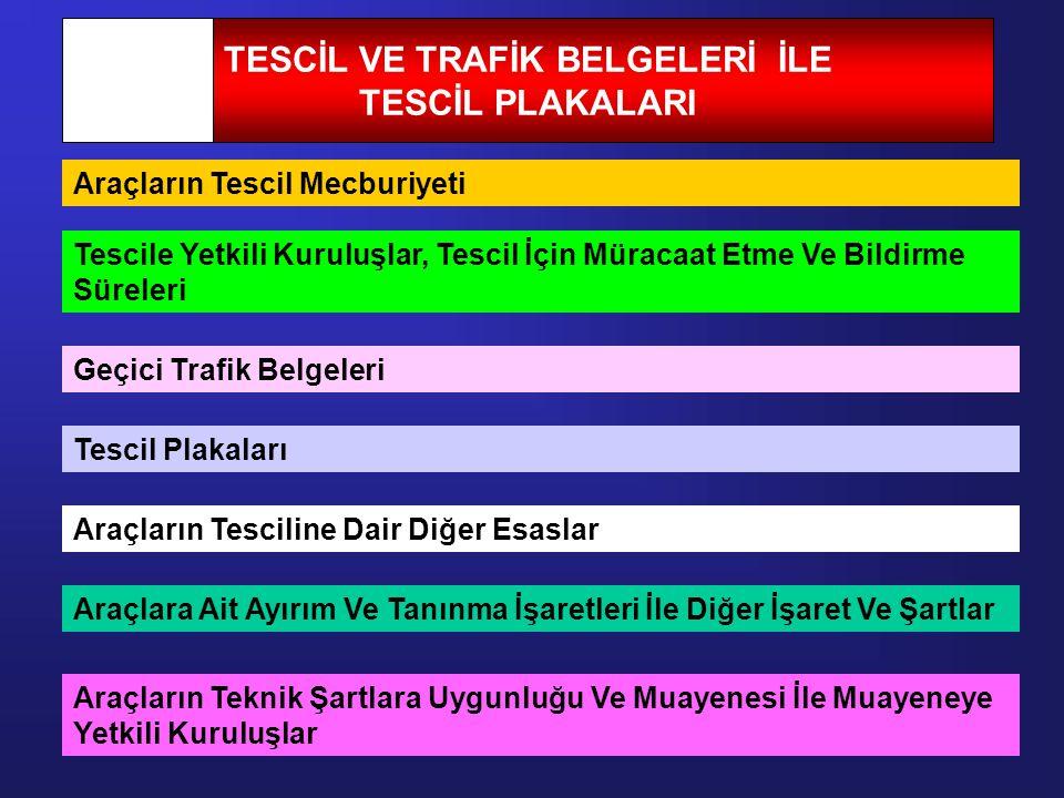 TESCİL VE TRAFİK BELGELERİ İLE