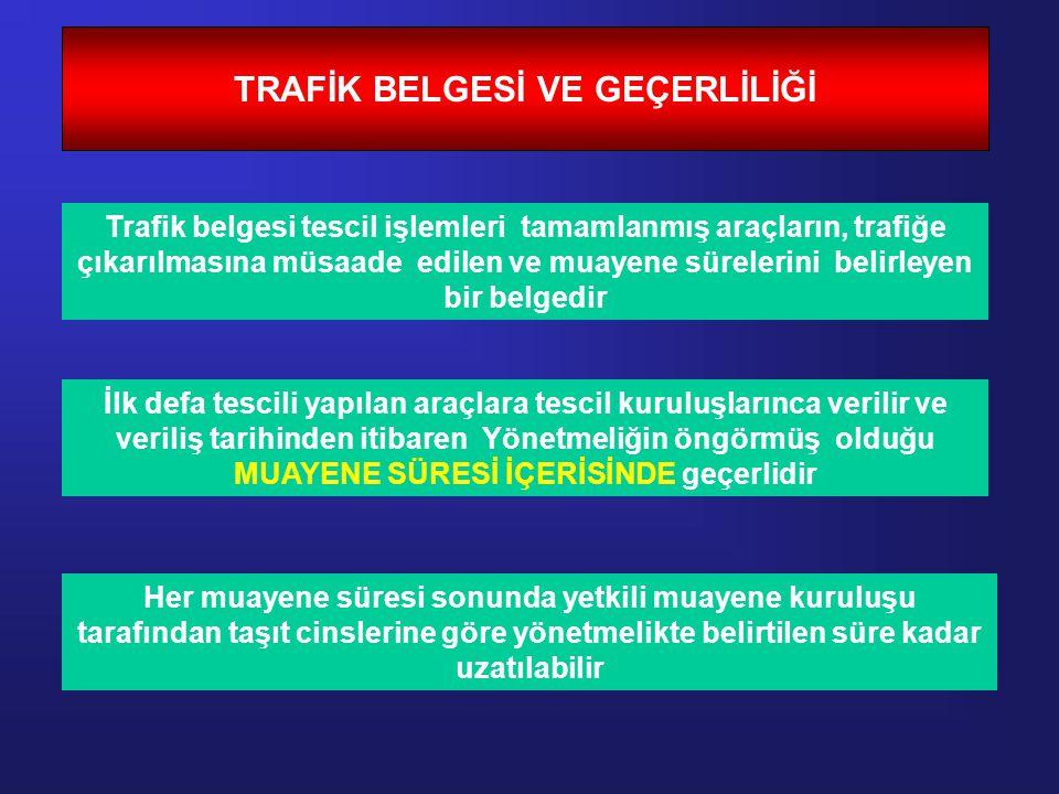 TRAFİK BELGESİ VE GEÇERLİLİĞİ