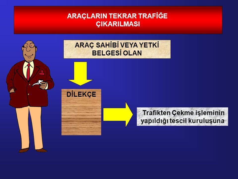 ARAÇLARIN TEKRAR TRAFİĞE ÇIKARILMASI
