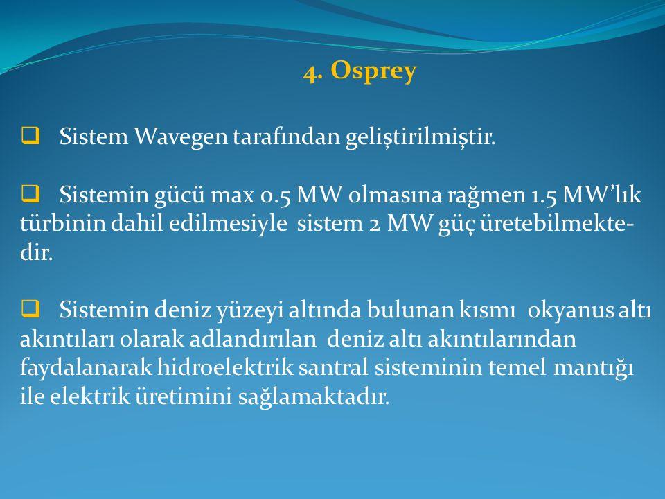 4. Osprey Sistem Wavegen tarafından geliştirilmiştir.