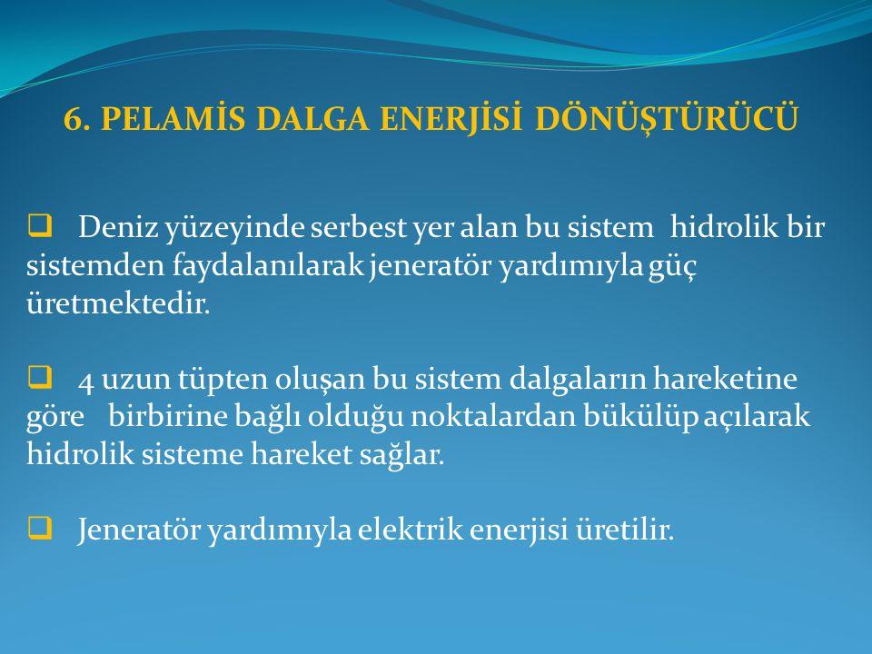 6. PELAMİS DALGA ENERJİSİ DÖNÜŞTÜRÜCÜ