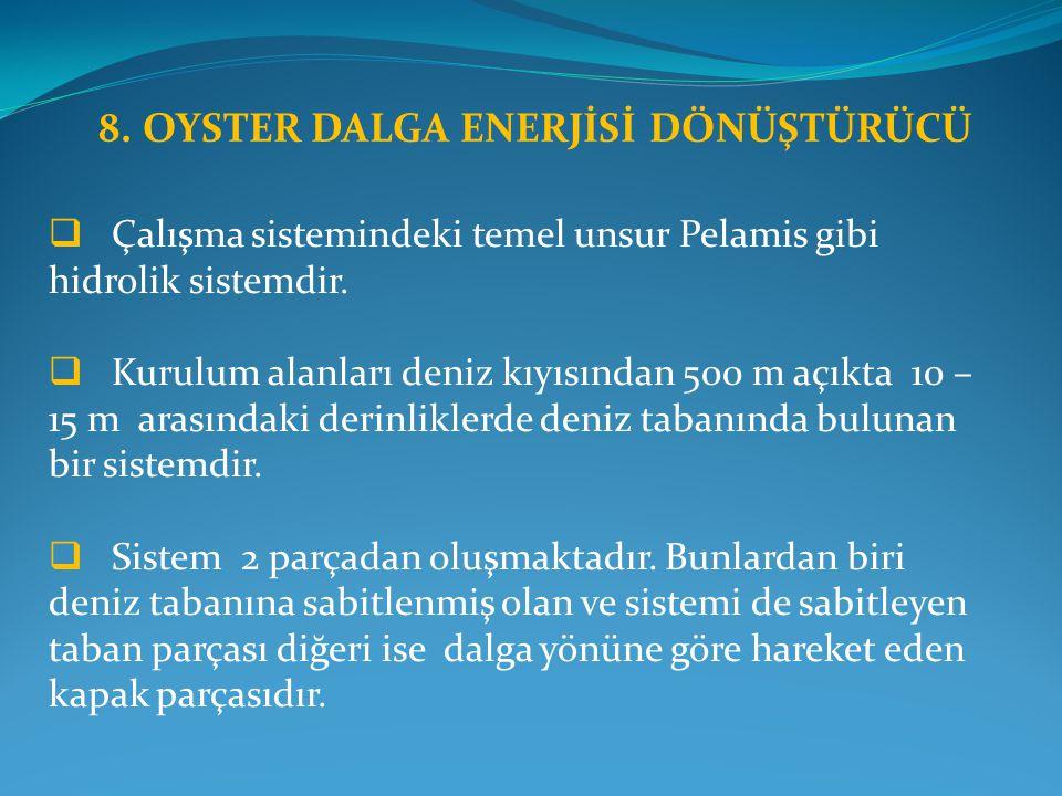 8. OYSTER DALGA ENERJİSİ DÖNÜŞTÜRÜCÜ