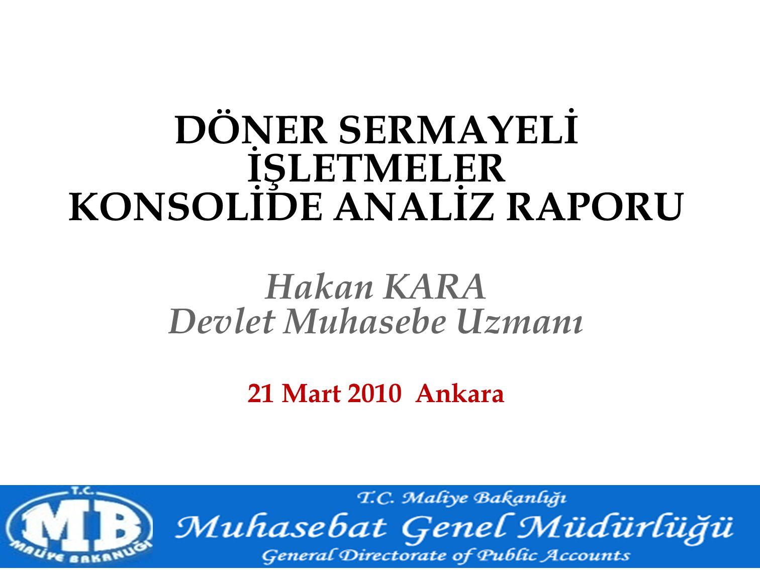 DÖNER SERMAYELİ İŞLETMELER KONSOLİDE ANALİZ RAPORU