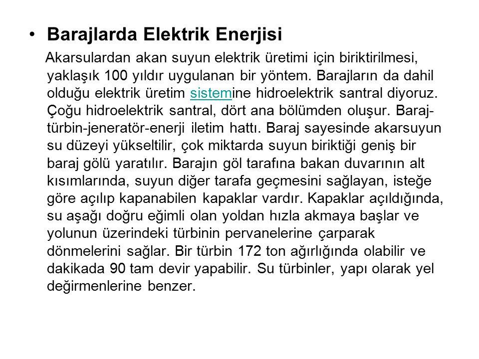 Barajlarda Elektrik Enerjisi