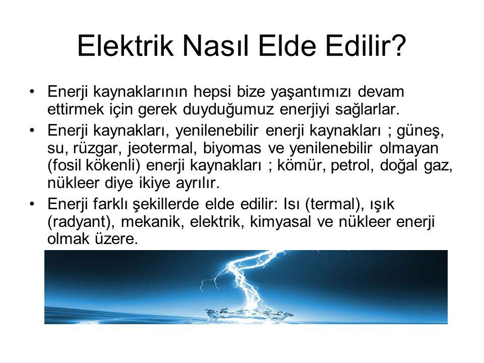 Elektrik Nasıl Elde Edilir