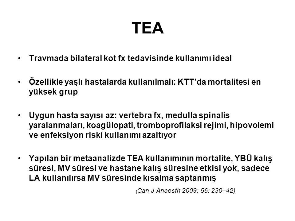 TEA Travmada bilateral kot fx tedavisinde kullanımı ideal