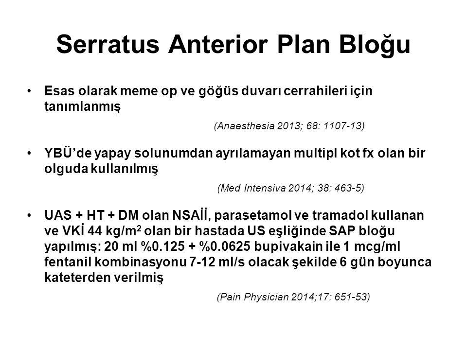 Serratus Anterior Plan Bloğu