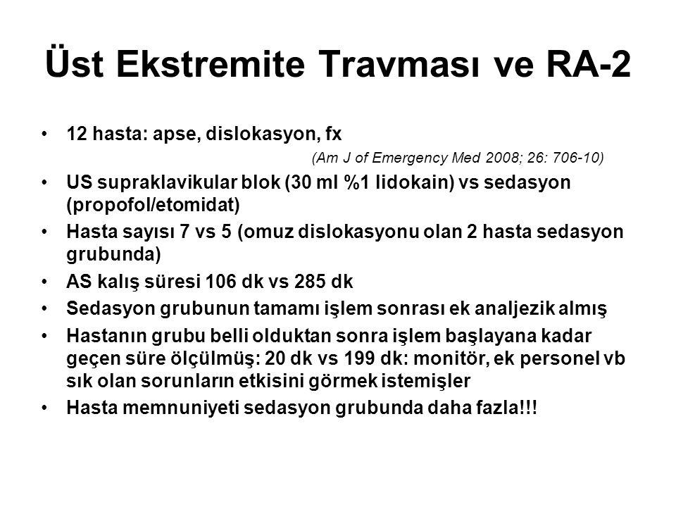 Üst Ekstremite Travması ve RA-2
