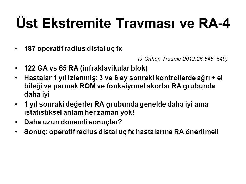 Üst Ekstremite Travması ve RA-4