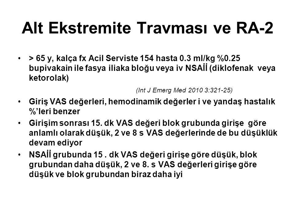 Alt Ekstremite Travması ve RA-2