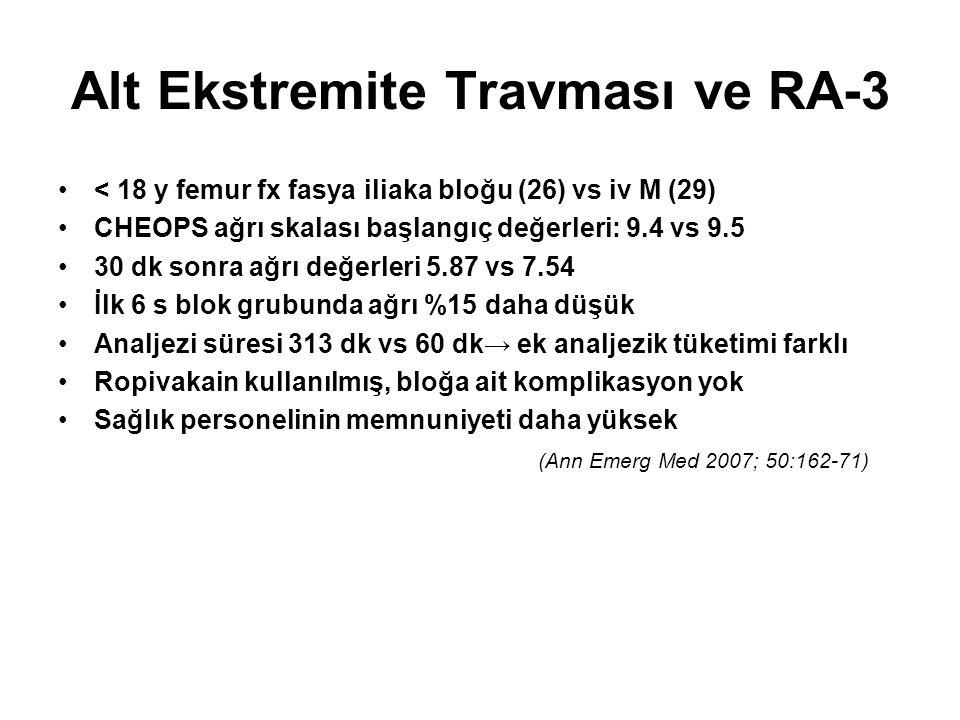 Alt Ekstremite Travması ve RA-3