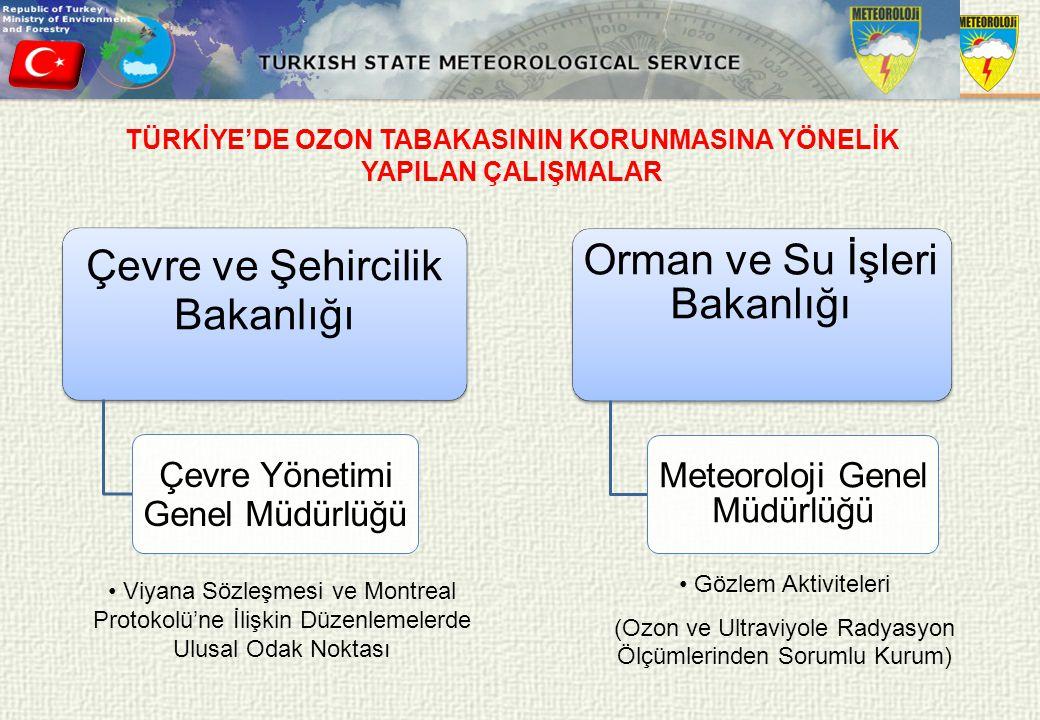 TÜRKİYE'DE OZON TABAKASININ KORUNMASINA YÖNELİK YAPILAN ÇALIŞMALAR