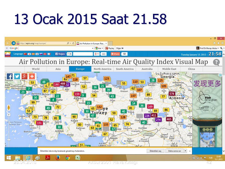 13 Ocak 2015 Saat 21.58 25.04.2015 Akdur 2001 Hava Kirliliği