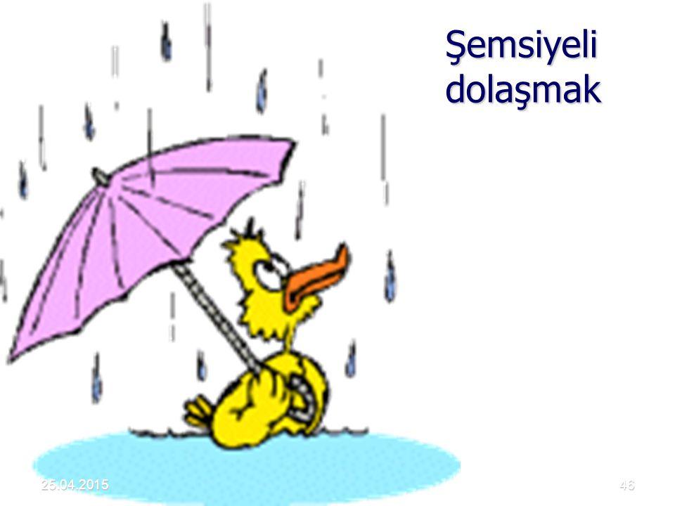 Şemsiyeli dolaşmak 25.04.2015 Akdur 2001 Hava Kirliliği